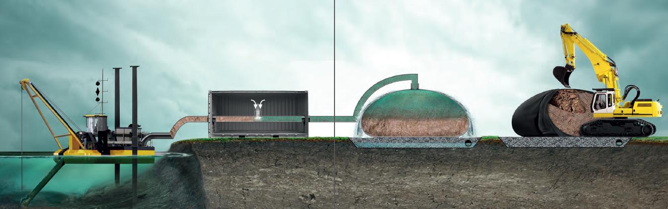 Technologia odwadniania wkontenerach syntetycznych SoilTain®.
